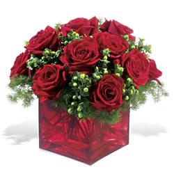 Mardin çiçek yolla  9 adet kirmizi gül cam yada mika vazoda
