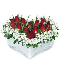 Mardin internetten çiçek siparişi  mika kalp içerisinde 9 adet kirmizi gül