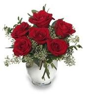 Vazo içerisinde 5 adet kırmızı gül  Mardin çiçekçi mağazası
