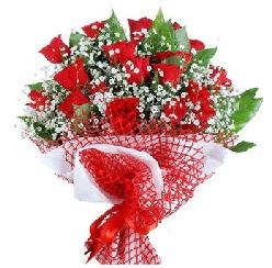 11 kırmızı gülden buket  Mardin 14 şubat sevgililer günü çiçek