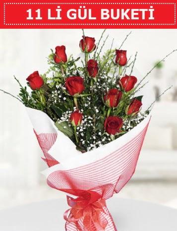 11 adet kırmızı gül buketi Aşk budur  Mardin çiçek gönderme sitemiz güvenlidir