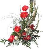 Mardin kaliteli taze ve ucuz çiçekler  Kirmizi gerbera özel tanzim