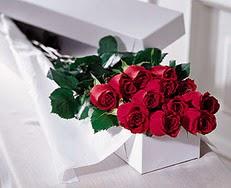 Mardin çiçek satışı  özel kutuda 12 adet gül