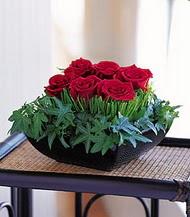 Mardin çiçek siparişi sitesi  10 adet kare mika yada cam vazoda gül tanzim