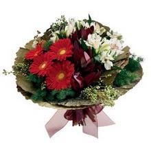 Mardin 14 şubat sevgililer günü çiçek  gerbera ve mevsim demeti