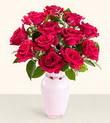 Mardin hediye çiçek yolla  10 kirmizi gül cam yada mika vazo tanzim