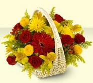 Mardin 14 şubat sevgililer günü çiçek  sepette mevsim çiçekleri