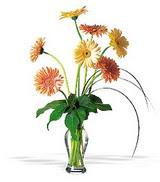 Mardin online çiçekçi , çiçek siparişi  cam yada mika vazoda 7 adet gerbera