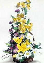 Mardin uluslararası çiçek gönderme  Sepette mevsim çiçekleri