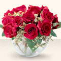 Mardin çiçek online çiçek siparişi  mika yada cam içerisinde 10 gül - sevenler için ideal seçim -
