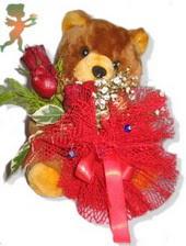 oyuncak ayi ve gül tanzim  Mardin çiçekçiler