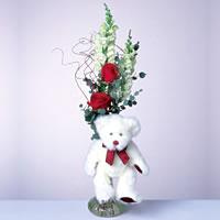 2 adet gül ve panda özel  Mardin çiçekçi mağazası
