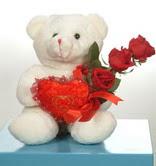 3 adetgül ve oyuncak   Mardin online çiçekçi , çiçek siparişi