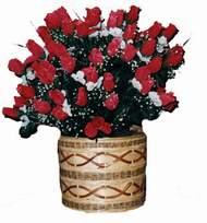 yapay kirmizi güller sepeti   Mardin kaliteli taze ve ucuz çiçekler