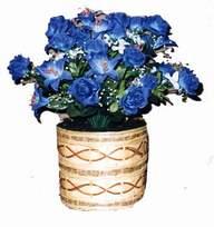 yapay mavi çiçek sepeti  Mardin cicekciler , cicek siparisi