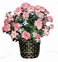 yapay karisik çiçek sepeti  Mardin çiçek online çiçek siparişi