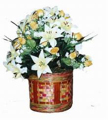 yapay karisik çiçek sepeti   Mardin cicekciler , cicek siparisi