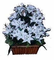 yapay karisik çiçek sepeti   Mardin online çiçek gönderme sipariş