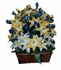 yapay karisik çiçek sepeti   Mardin çiçek gönderme