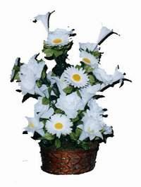 yapay karisik çiçek sepeti  Mardin çiçek siparişi vermek