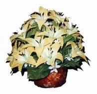yapay karisik çiçek sepeti   Mardin çiçek siparişi sitesi