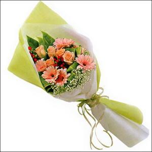 sade güllü buket demeti  Mardin çiçekçi mağazası