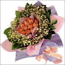 11  adet  gül ve   elyaflar   Mardin çiçekçi mağazası