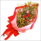 12 adet renkli  gül buketi   Mardin çiçekçi mağazası