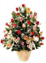 91 adet renkli gül aranjman   Mardin çiçek gönderme sitemiz güvenlidir