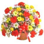 karisik renkli çiçek sepet   Mardin çiçek gönderme sitemiz güvenlidir