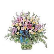 sepette kazablanka ve güller   Mardin çiçek gönderme
