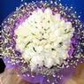71 adet beyaz gül buketi   Mardin çiçek , çiçekçi , çiçekçilik