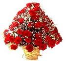 41 adet kirmizi gül sepette   Mardin çiçek , çiçekçi , çiçekçilik