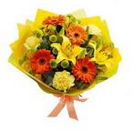 Mardin çiçek , çiçekçi , çiçekçilik  orta boy  buket demetlik - karisik buket anneler günü  için -