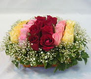15 adet reprenkli gül sepeti   Mardin çiçek yolla