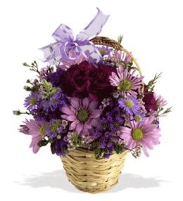 Mardin uluslararası çiçek gönderme  sepet içerisinde krizantem çiçekleri