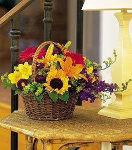 Mardin cicekciler , cicek siparisi  karisik sepet içinde mevsimsel çiçekler