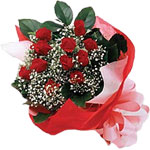 Mardin internetten çiçek satışı  KIRMIZI AMBALAJ BUKETINDE 12 ADET GÜL