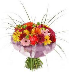 karisik gerbera demeti 15 adet gerberalardan  Mardin çiçekçi mağazası