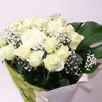 Mardin hediye çiçek yolla  11 adet sade beyaz gül buketi