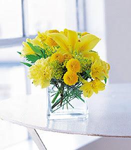 Mardin ucuz çiçek gönder  sarinin sihri cam içinde görsel sade çiçekler
