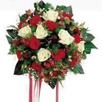 Mardin ucuz çiçek gönder  6 adet kirmizi 6 adet beyaz ve kir çiçekleri buket