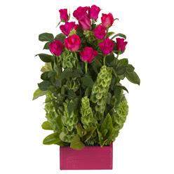 12 adet kirmizi gül aranjmani  Mardin çiçek mağazası , çiçekçi adresleri