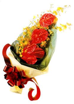 özel 5 adet antorium buketi   Mardin çiçek gönderme sitemiz güvenlidir