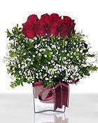 Mardin çiçek , çiçekçi , çiçekçilik  11 adet gül mika yada cam - anneler günü seçimi -