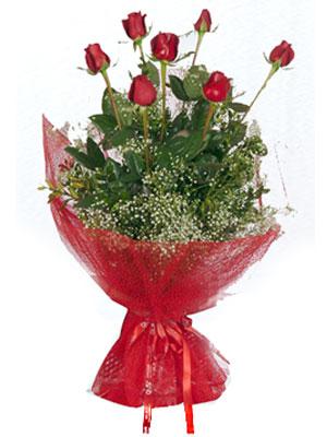 Mardin çiçek servisi , çiçekçi adresleri  7 adet gülden buket görsel sik sadelik