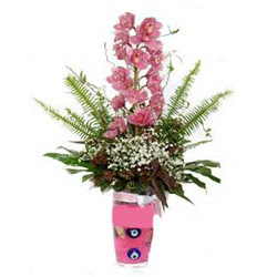 Mardin hediye çiçek yolla  cam yada mika vazo içerisinde tek dal orkide çiçegi