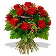 9 adet kirmizi gül ve kir çiçekleri  Mardin internetten çiçek satışı
