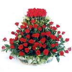 Mardin kaliteli taze ve ucuz çiçekler  41 adet kirmizi gülden sepet tanzimi