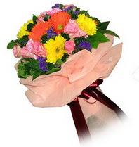 Mardin çiçekçi mağazası  Karisik mevsim çiçeklerinden demet